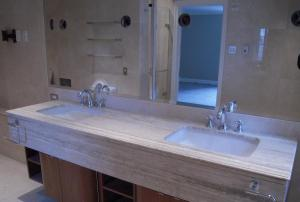 Double Sink Bathroom Vanity Stone Top