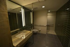 Bathroom single sink vanity stone top