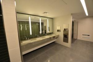 Bathroom four sink vanity stone top