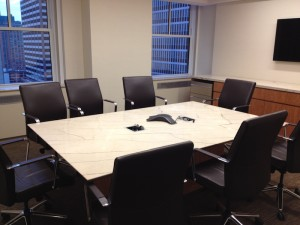 Small rectangular stone conference room office table