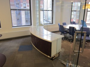 Work Space Curved Credenza