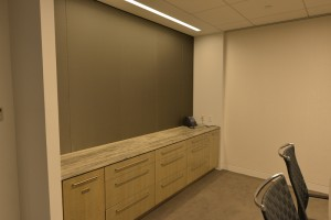 Stone top office credenza