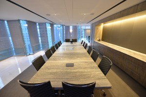 Large rectangular stone conference room office table