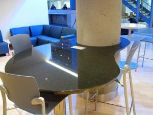 Beam-set Black Table Top