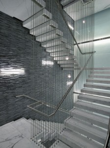 Suspended appearance Modern Stone Stair Treads